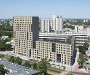 Zdjęcie z powietrza Trio Apartamenty